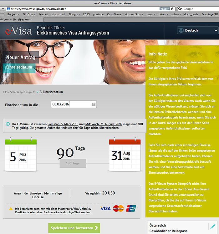 Segeln Türkei: Visabeantragung mit neuer Webseite
